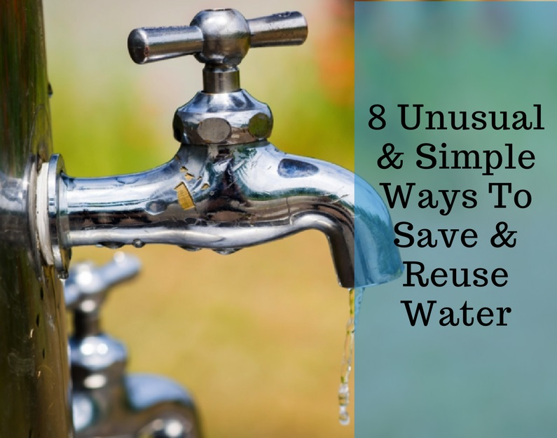 We're all aware of the traditional methods of saving water, fixings leaky faucets, taking shorter showers and watering our landscaping less, but there's many other everyday ways we can reduce our usage of H2O. These will not only save money on your utility bill, they will also help to reduce our carbon footprint and be kinder to Mother Earth.  Here are eight unusual, yet simple ways we can save and reuse water in our everyday lives: